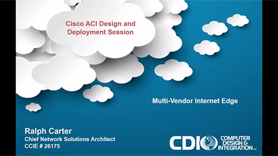 Cisco ACI Design and Deployment Session Part 1