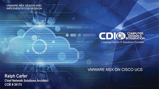 VMware NSX on Cisco UCS – 1 – Design