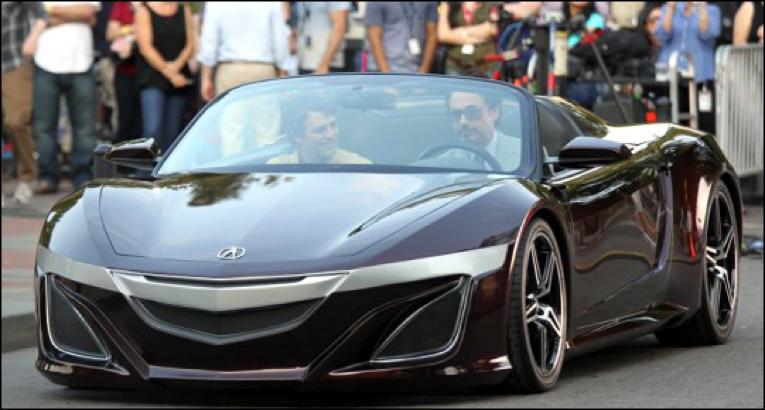 Tony Stark in Acura NSX