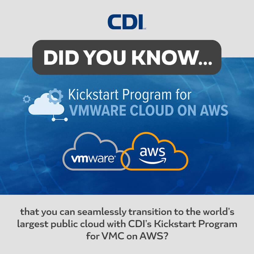 CDI Kickstart Program for VMware Cloud on AWS