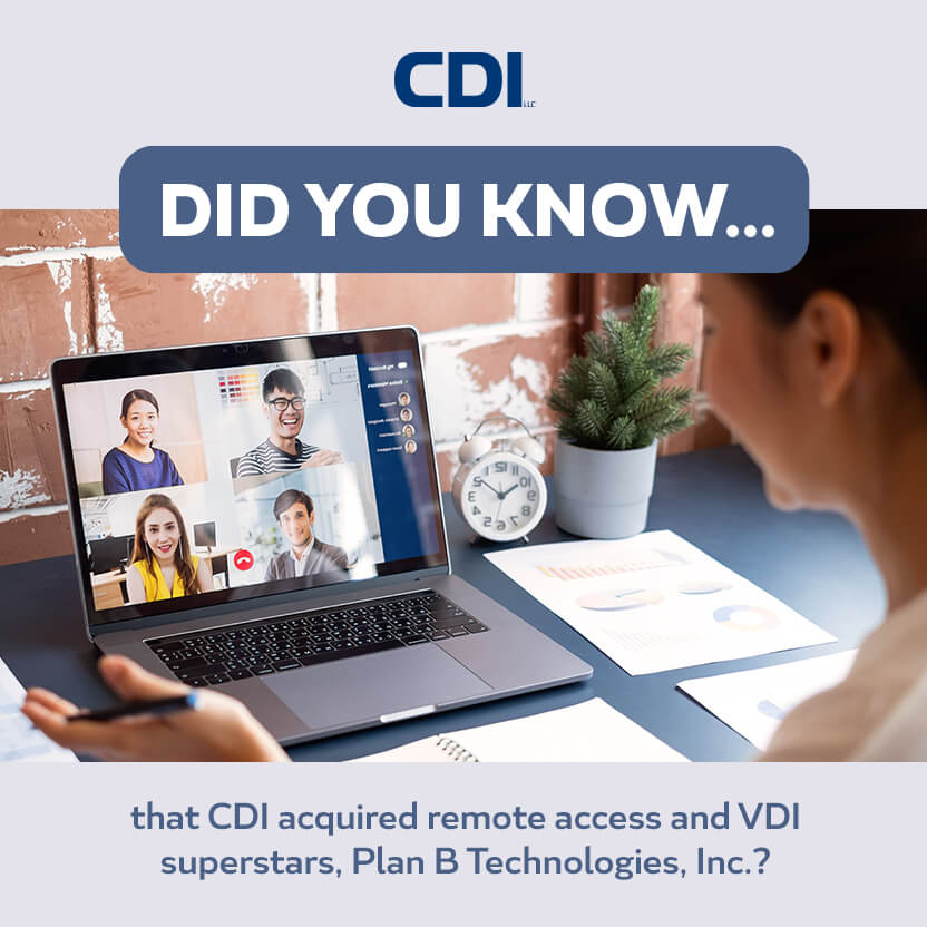 Plan B Technologies, Inc. is now a CDI Company